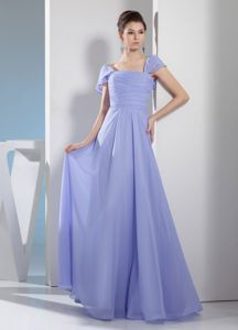 Cap Sleeve Square Ruched Lilac Mother Gown in Culver City California